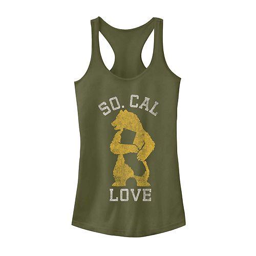"Juniors' ""So. Cal Love"" California State Bear Graphic Tank"
