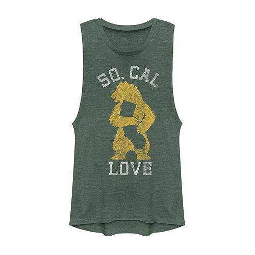 "Juniors' ""So. Cal Love"" California State Bear Graphic Muscle Tank"