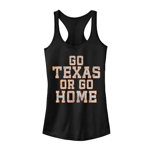 "Juniors ""Go Texas Or Go Home"" Graphic Tank"