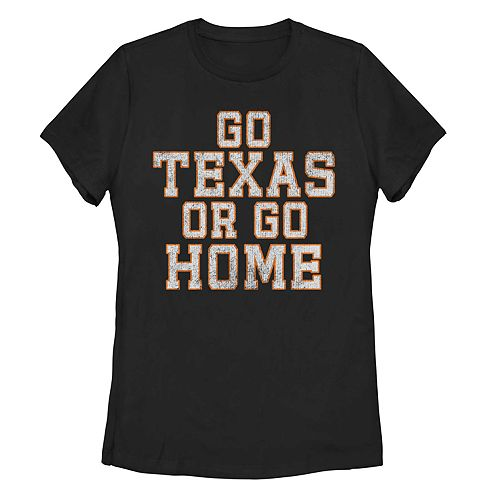 "Juniors' ""Go Texas Or Go Home"" Graphic Tee"
