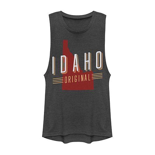 "Juniors' ""Idaho Original"" Graphic Muscle Tank"