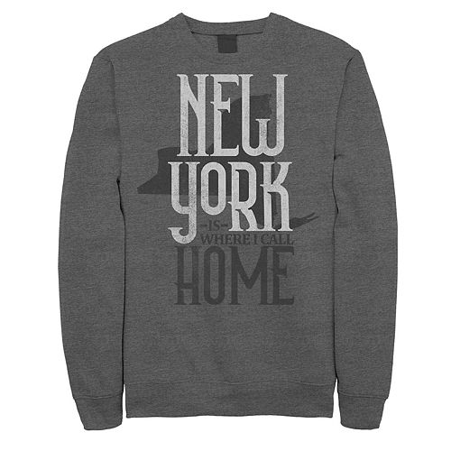 "Juniors' ""New York Is Where I Call Home"" Fleece Graphic Top"