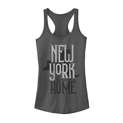"""Juniors' """"New York Is Where I Call Home"""" Graphic Tank"""