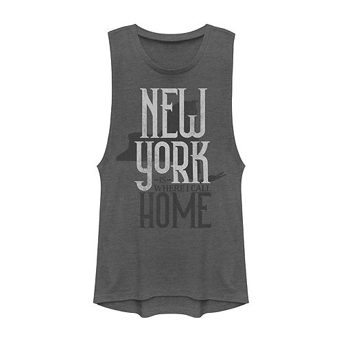 "Juniors' ""New York Is Where I Call Home"" Graphic Muscle Tank"