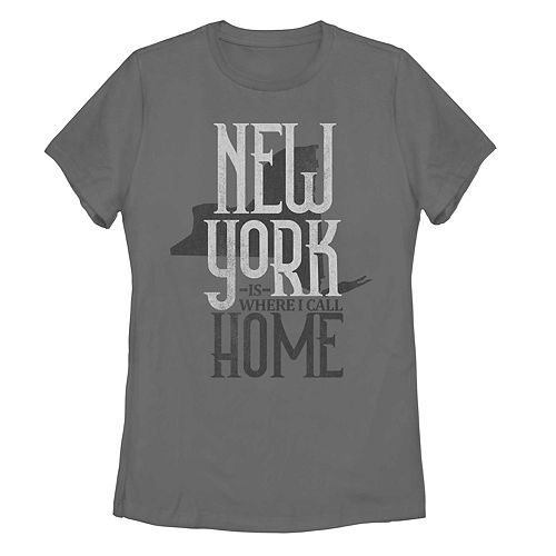"Juniors' ""New York Is Where I Call Home"" Graphic Tee"
