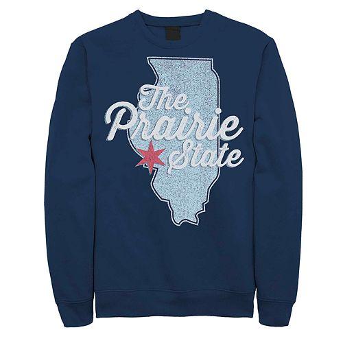 "Juniors' Illinois ""The Prairie State"" Fleece Graphic Top"