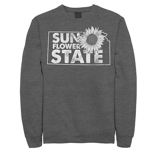 "Juniors' Kansas ""Sunflower State"" Fleece Graphic Top"