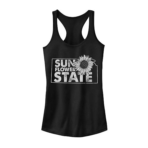 "Juniors' Kansas ""Sunflower State"" Graphic Tank"