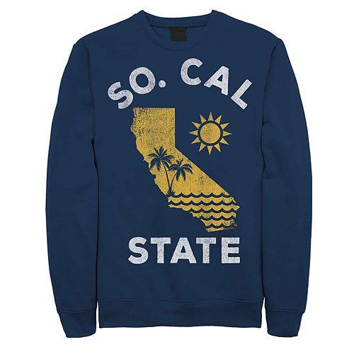 "Juniors' ""So. Cal State"" California Fleece Graphic Top"