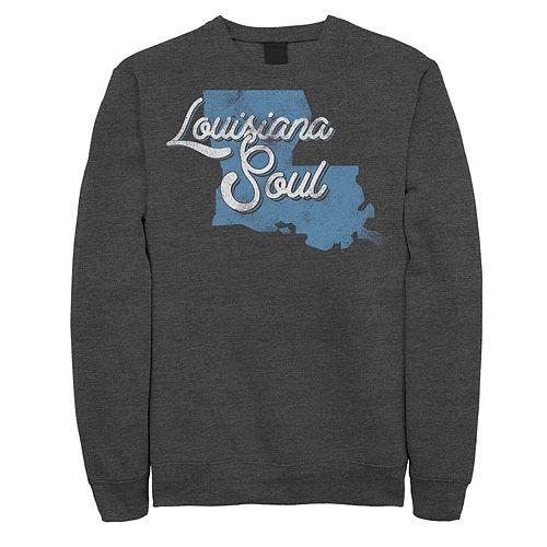 "Juniors' ""Louisiana Soul"" Vintage Fleece Graphic Top"