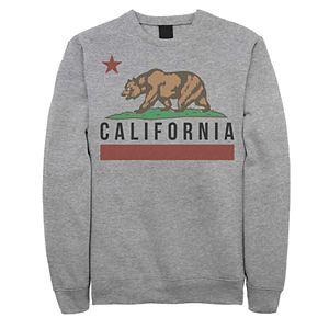 Juniors' California State Bear Flag Fleece Graphic Top