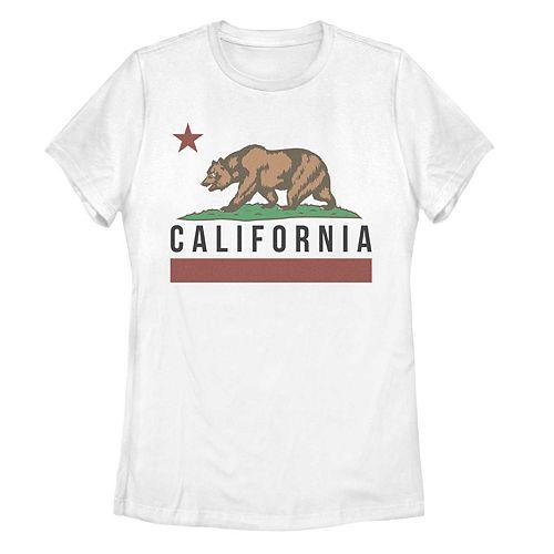 Juniors' California State Bear Flag Graphic Tee