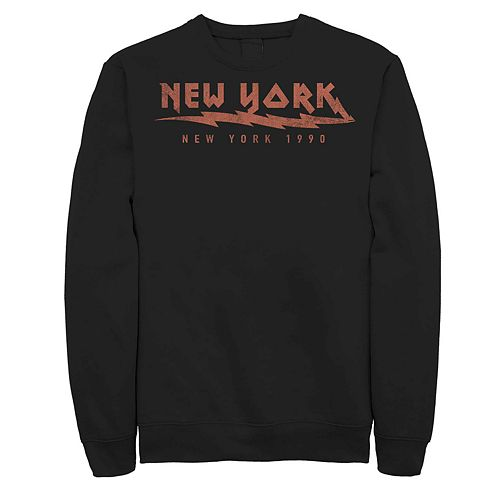 Juniors' New York Electric 1990 Retro Fleece Graphic Top