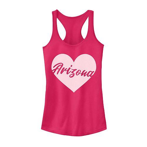 Juniors' Arizona Heart Graphic Tank