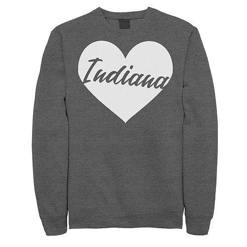 Juniors' Indiana Heart Graphic Sweatshirt
