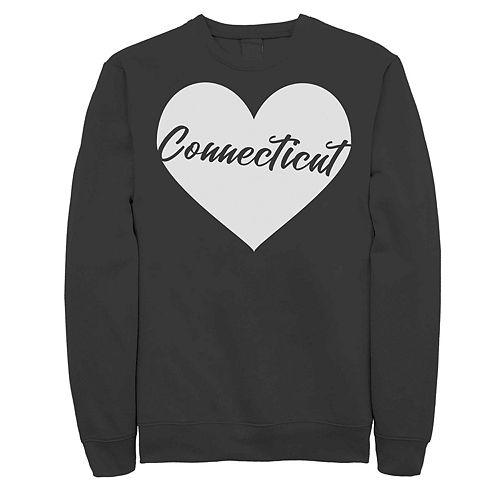 Juniors' Connecticut Heart Graphic Sweatshirt