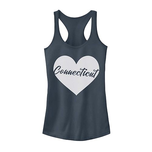Juniors' Connecticut Heart Graphic Tank