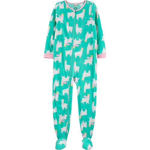 Girls 4-14 Carter's 1-Piece Fleece Footie PJs