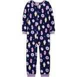 Girls 4-14 Carter's 1-Piece Fleece Footless PJs