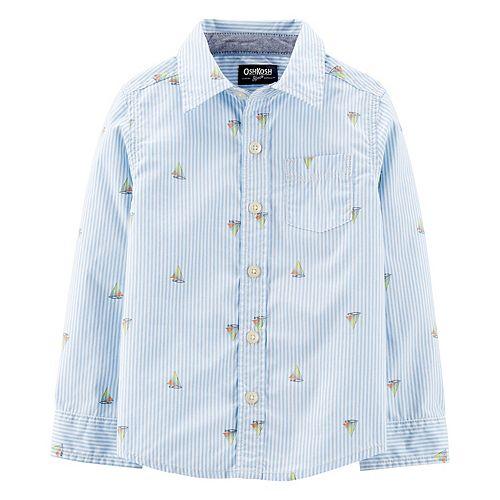 Toddler Boy OshKosh B'gosh® Sailboat Button-Front Shirt