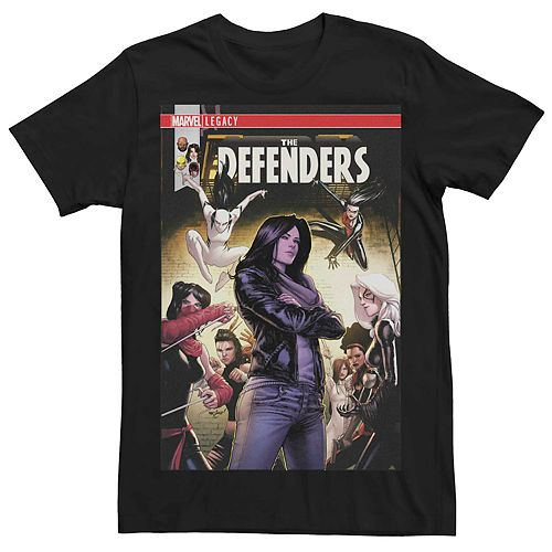 Men's Marvel The Defenders Group Shot Comic Cover Tee