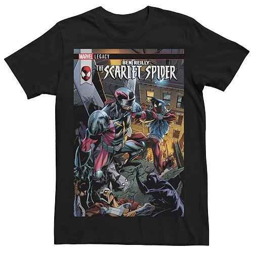Men's Marvel Ben Reilly Scarlet Spider #13 Comic Cover Tee