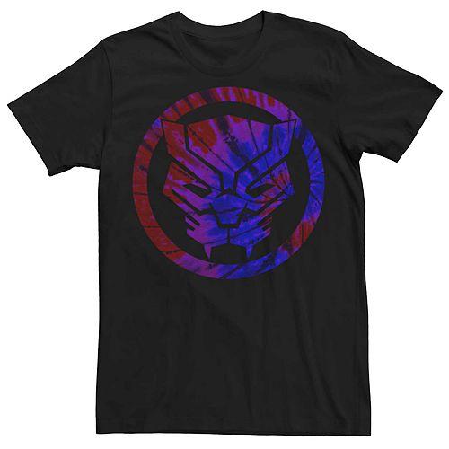 Men's Marvel Black Panther Tie-Dye Logo Tee