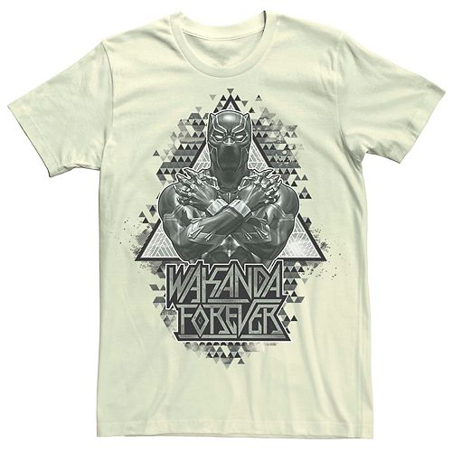 Men's Marvel Black Panther Geometric Triangles Portrait Tee