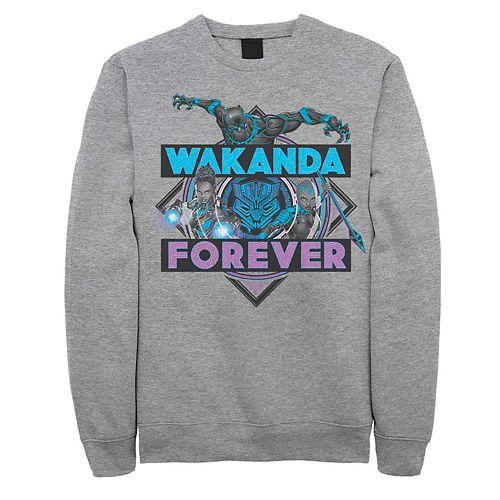 Men's Marvel Black Panther Wakanda Forever Neon Colors Fleece
