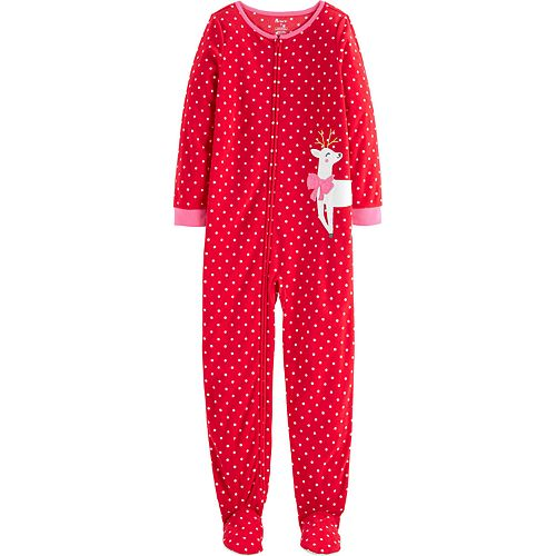 Girls 4-14 Carter's 1-Piece Christmas Fleece Footie PJs