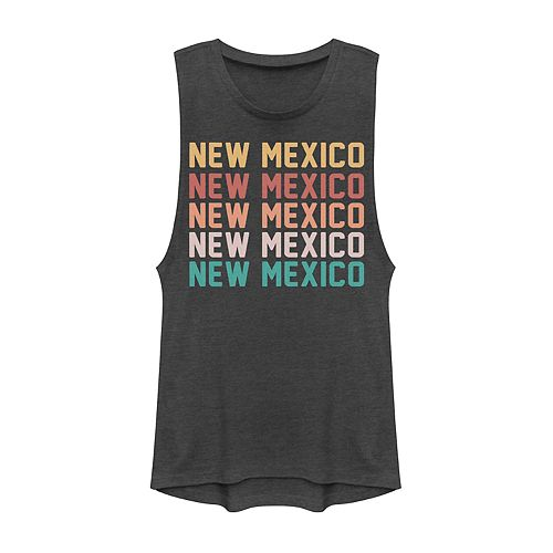 Juniors' New Mexico Stack Graphic Muscle Tank
