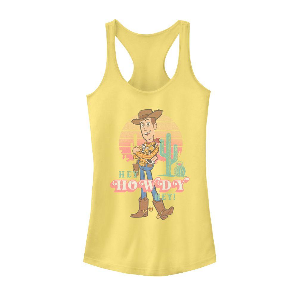 Juniors' Fifth Sun Disney Pixar Toy Story 4 Hey Howdy Woody Sunset Tank