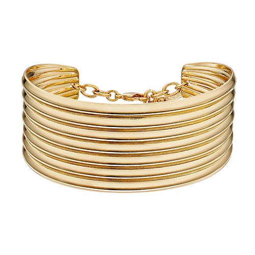 Nine West Gold Tone Cuff Bracelet