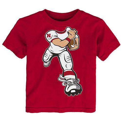 Toddler Boy Nebraska Cornhuskers Lil' Player Short Sleeve Tee
