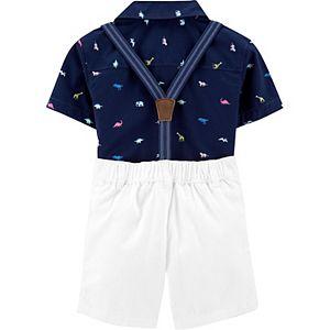 Toddler Boys Carter's 3-Piece Dinosaur and Animals Dress Me Up Set