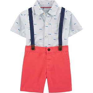 Toddler Boys Carter's 3-Piece Schiffli Dress Me Up Set