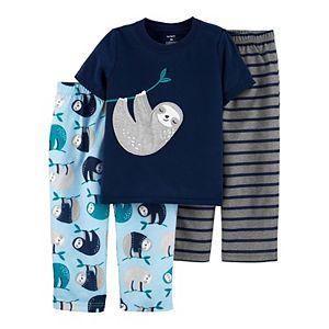 Baby Carter's 3-Piece Sloth Pajama Set