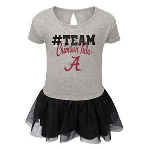 Toddler Girl Alabama Crimson Tide Hashtag Team Tutu Dress