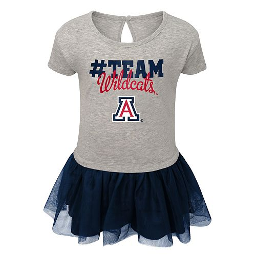 Toddler Girl Arizona Wildcats Hashtag Team Tutu Dress