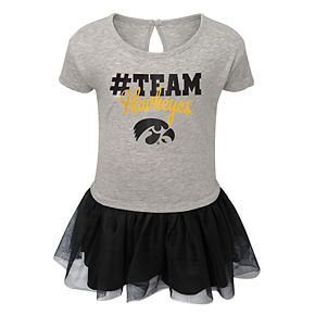 Toddler Girl Iowa Hawkeyes Hashtag Team Tutu Dress
