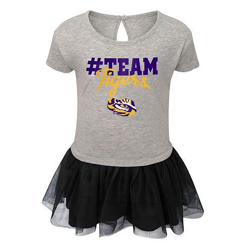 Toddler Girl LSU Tigers Hashtag Team Tutu Dress