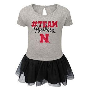 Toddler Girl Nebraska Cornhuskers Hashtag Team Tutu Dress