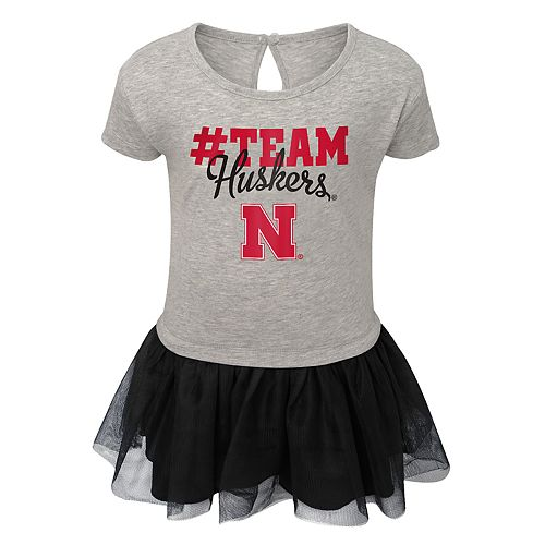 Toddler Girl Nebraska Cornhuskers Hashtag Team Tutu Dress