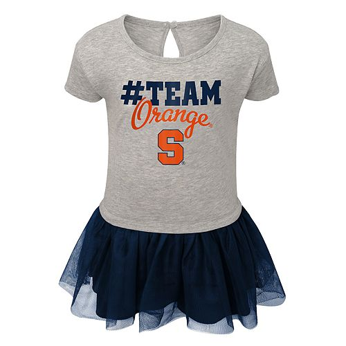 Toddler Girl Syracuse Orange Hashtag Team Tutu Dress