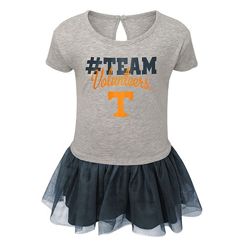 Toddler Girl Tennessee Volunteers Hashtag Team Tutu Dress