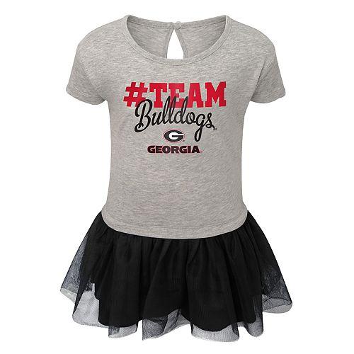 Toddler Girl Georgia Bulldogs Hashtag Team Tutu Dress