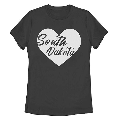 Juniors' South Dakota Heart Tee Shirt