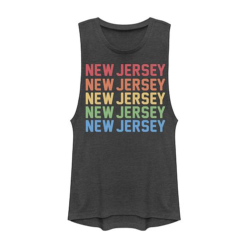 Juniors' New Jersey Stack Graphic Muscle Tank