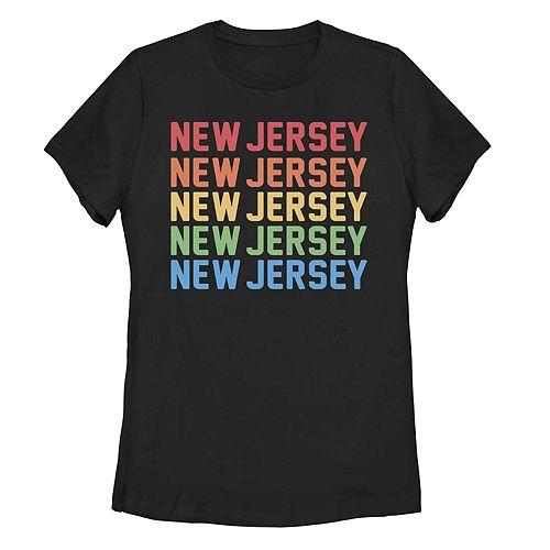 Juniors' New Jersey Stack Graphic Tee