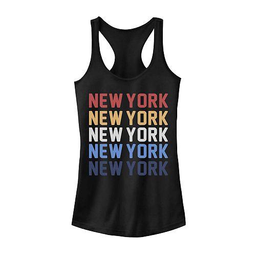 Juniors' New York Stack Graphic Tank